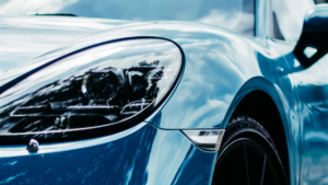 Front End Close-Up, Luxury Automobile