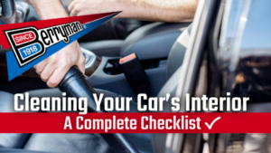 Interior Vehicle Cleaning Checklist