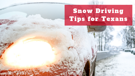 how to drive in the snow in texas